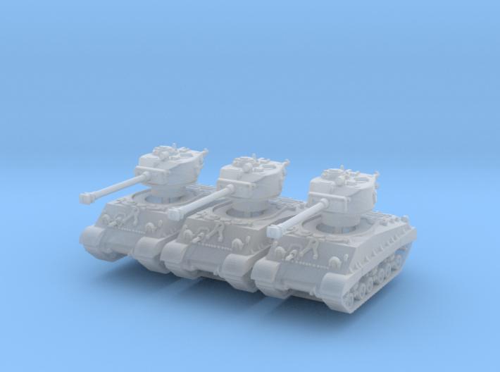 M4A3E8 Sherman 76mm (sandshield) (x3) 1/220 3d printed
