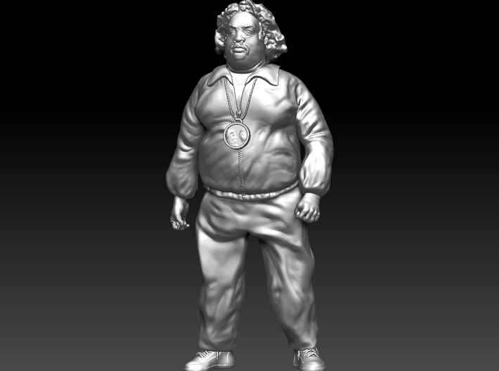 Overweight Civil Rights Man 3d printed