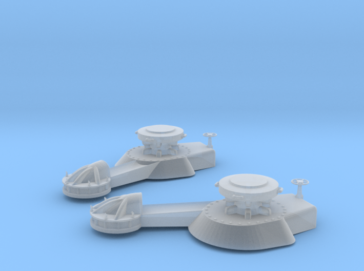 1/100 IJN Yamato Bow Cable Holder SET 3d printed