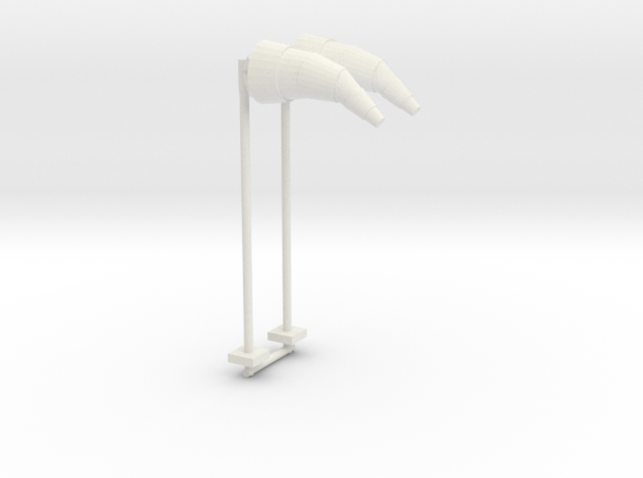 Airport Windsock and Pole (x2) 1/87 3d printed