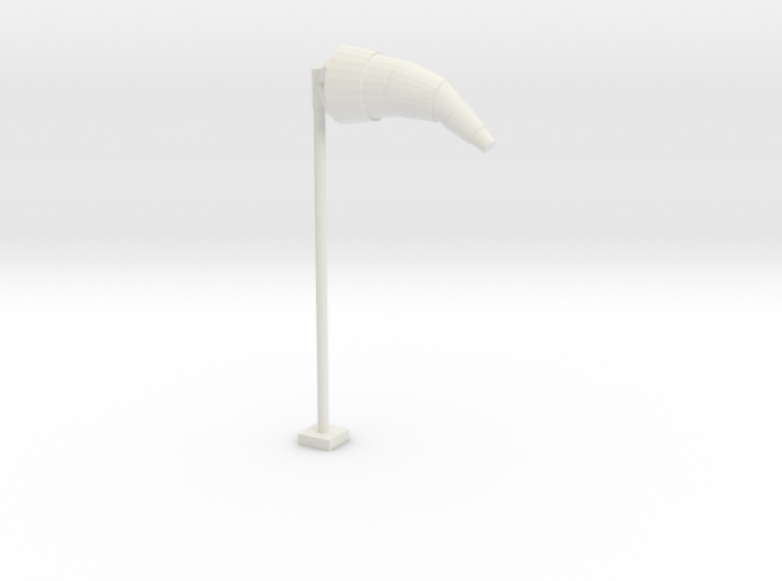 Airport Windsock and Pole 1/56 3d printed