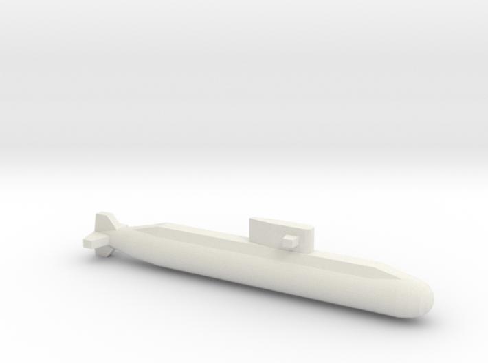 Lada-Class Submarine, Full Hull, 1/1250 3d printed