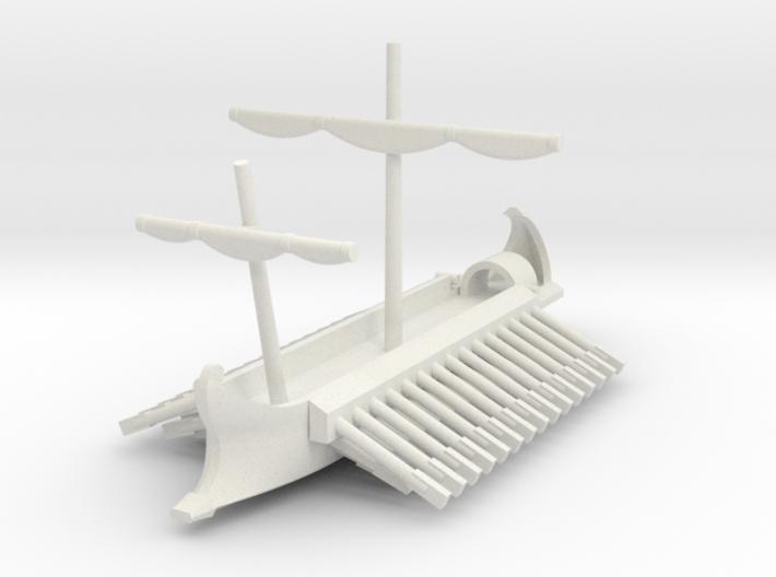 1/700 Full-Hull Roman Trireme 3d printed