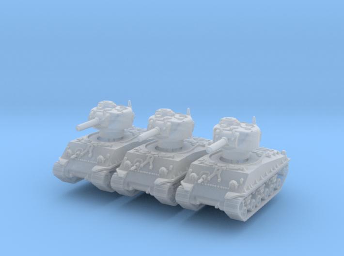M4A3 Sherman HVSS 105mm (x3) 1/220 3d printed