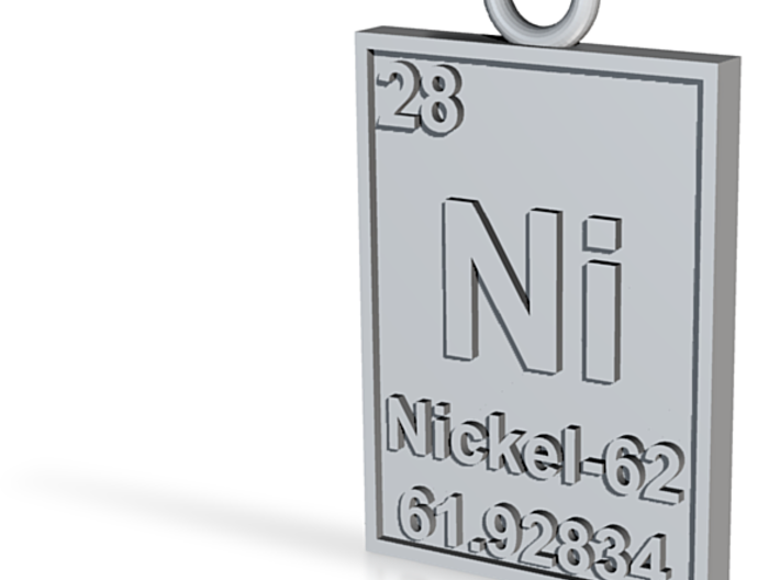 Nickel-62 Isotope Periodic Table Pendant (Variant) 3d printed