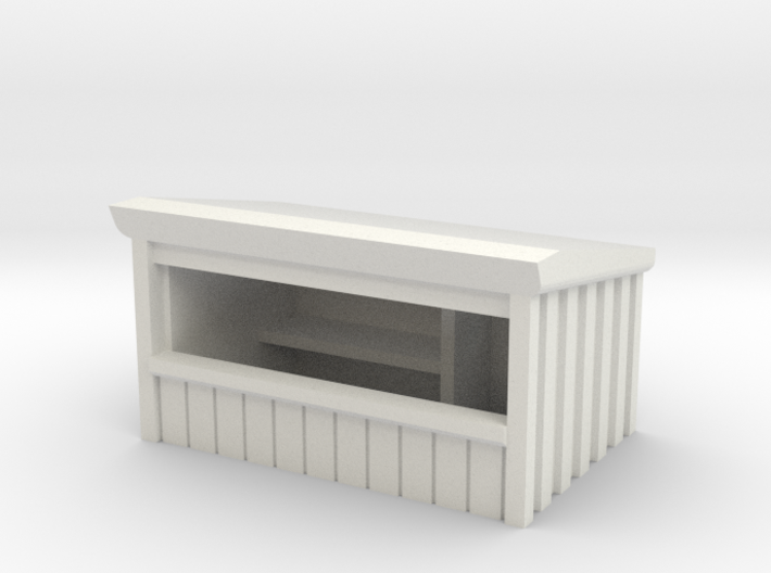 Wooden Market Stall 1/120 3d printed