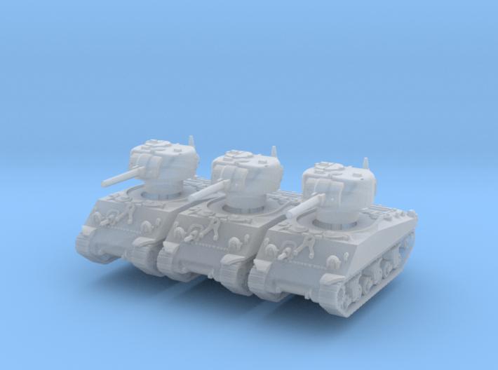 M4A3 Sherman 75mm (x3) 1/200 3d printed