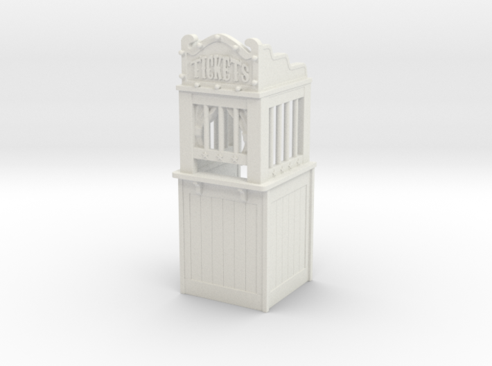 Carnival Ticket Booth 01. 1:24 Scale 3d printed