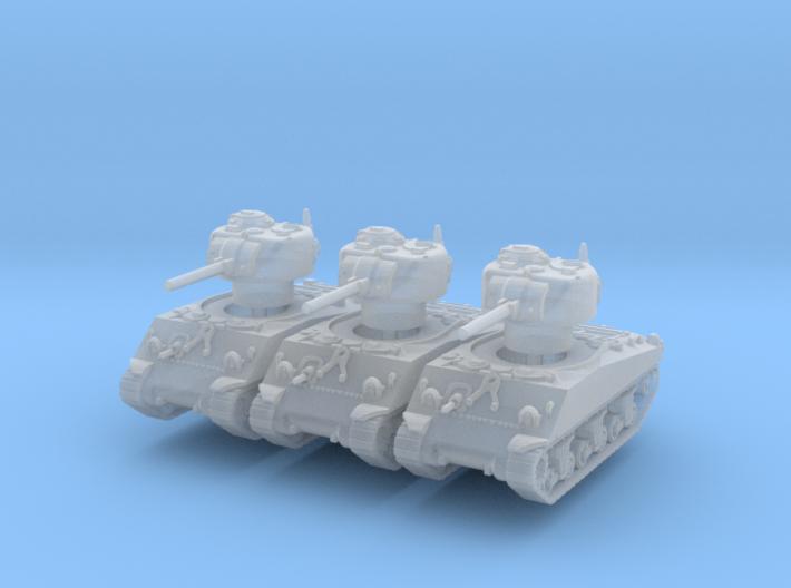 M4A3 Sherman 75mm late (x3) 1/285 3d printed