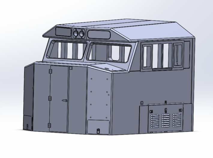 Crescent Cab - Athearn Genesis Conversion 3d printed Front