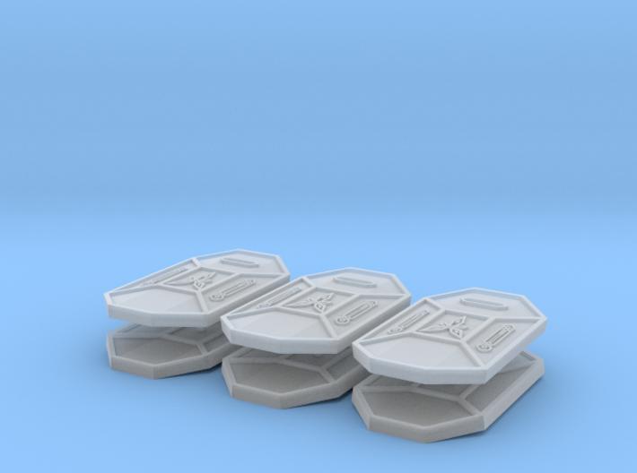Dwarven Tower Shield (x6) 3d printed