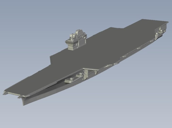 1/2400 scale USS Forrestal CV-59 aircraft carrier 3d printed