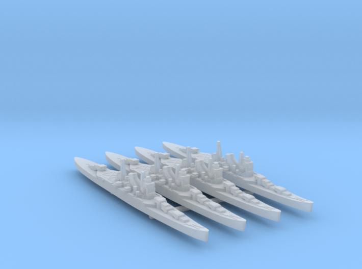 4pk sprue IJN Mogami cruiser 1:3000 WW2 3d printed