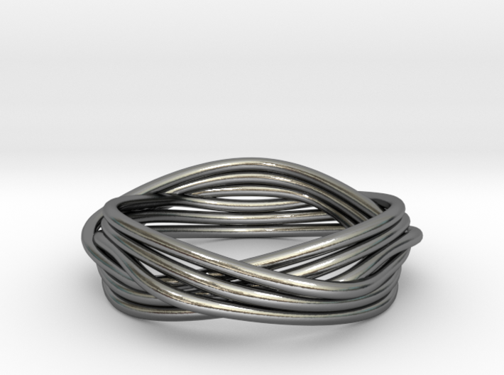 Turk's Head Knot Ring -- Size 6 1/4 3d printed