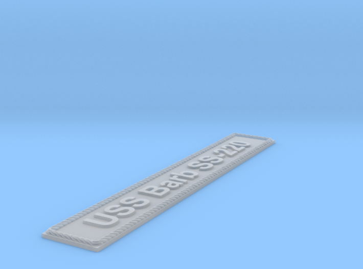 Nameplate USS Barb SS-220 (10 cm) 3d printed