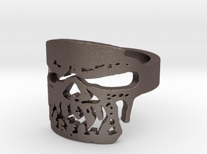 Fallen Angel Biker Skull v2 Ring Size 9 3d printed
