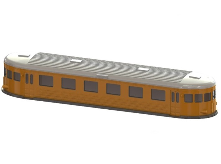 Swedish wagon for railcar UCo6 N-scale 3d printed CAD-model