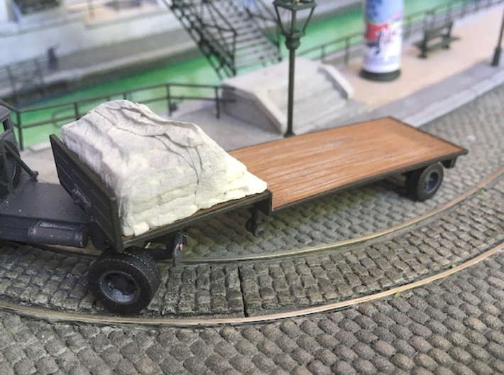 1:87 Single axle low loader semi trailer 3d printed
