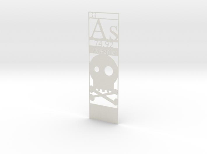 Elemental Bookmark - Arsenic customization 3d printed