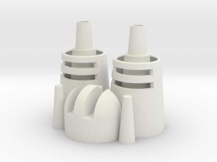 Desert Dweller Head Pieces 3d printed