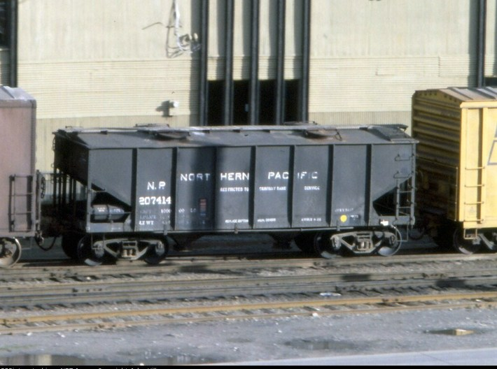 """""""N Scale"""" Northern Pacific Sand Car Roof insert 3d printed Prototype"""
