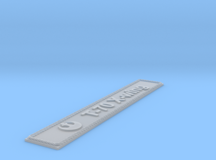 Nameplate T-70 X-wing (10 cm) 3d printed