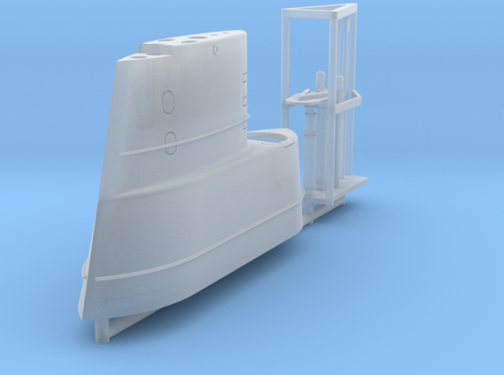 GUPPY Electric Boat Sail, 1/350 3d printed