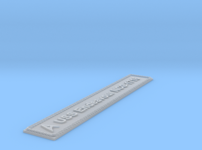 Nameplate USS Endeavour NCC-1716 (10 cm) 3d printed