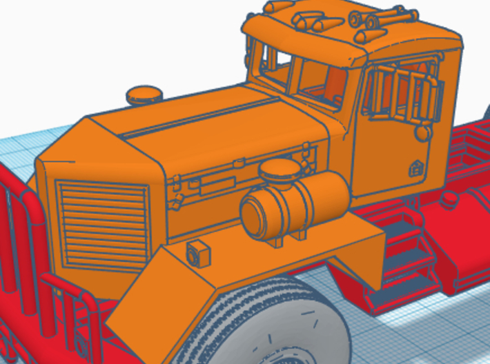 1/50th Kenworth 953 early truck CAB only 3d printed