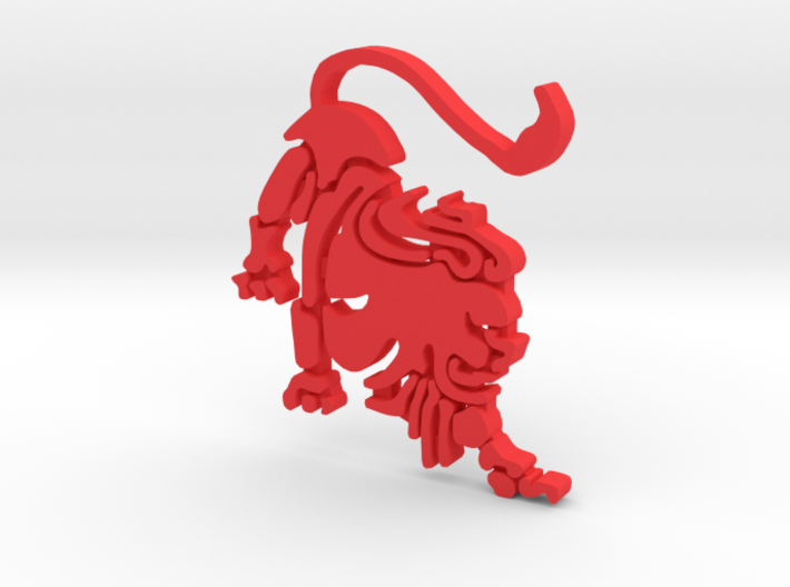 """Lion for """"Keychain Zodiac Lion"""" (two color) 3d printed"""