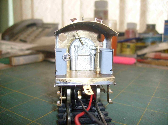 L&Y Railmotor Inside Tanks Pair 4mm Scale 3d printed Inside tanks fitted