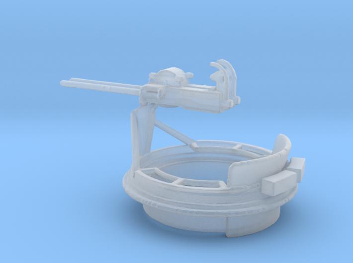1/72 Scale Mk 17 50 cal Gun Mount 3d printed