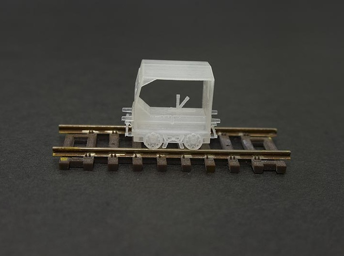 HO Scale (1:87) Fairmont S2 Speeder Car 3d printed Cleaned but not painted FUD Print.  Detail is clearer once primed.