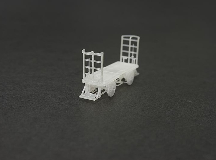 HO Scale (1/87) - Electric Baggage Cart 3d printed Unpainted FUD Print, detail is clearer when primed/painted.