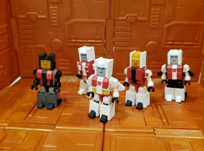 Armor for Aerialbot Kreons (Set 1 of 2) 3d printed Finished heads and armor