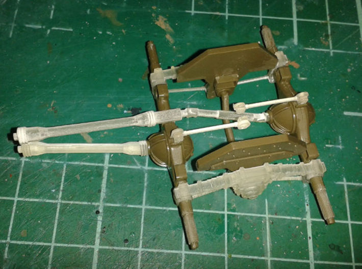DUKW suspension correction set Italeri Airfix 1:35 3d printed Assembly from above