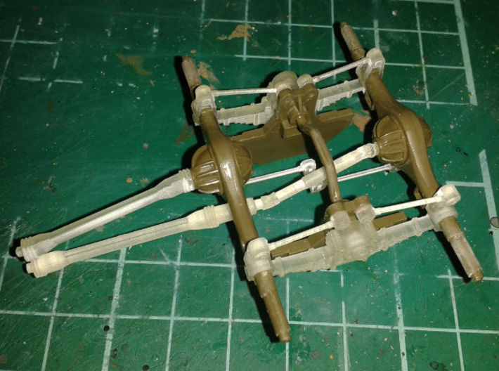 DUKW suspension correction set Italeri Airfix 1:35 3d printed Assembly from below