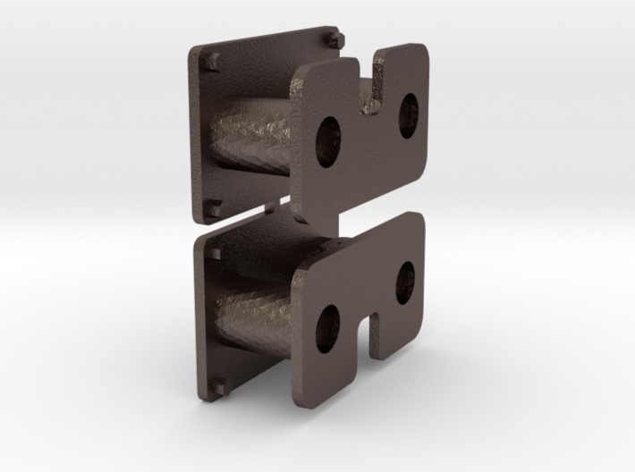 Buffer coupling for 16mm-scale industrial locos 3d printed