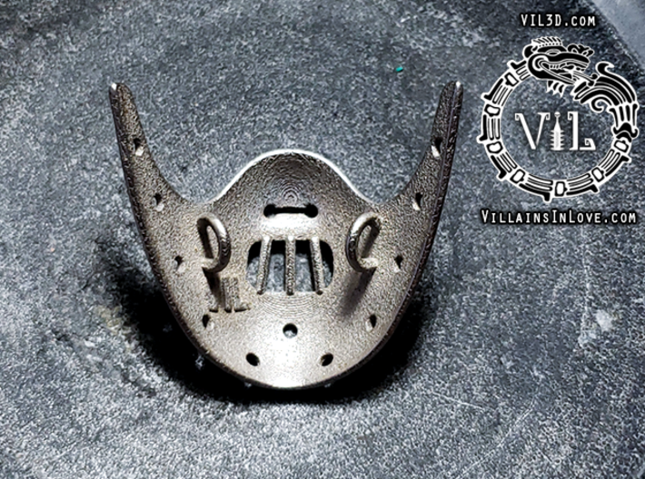 HANNIBAL Mask Pendant ⛧VIL⛧ 3d printed 2 loops on back to create a stable pendant and unique look!