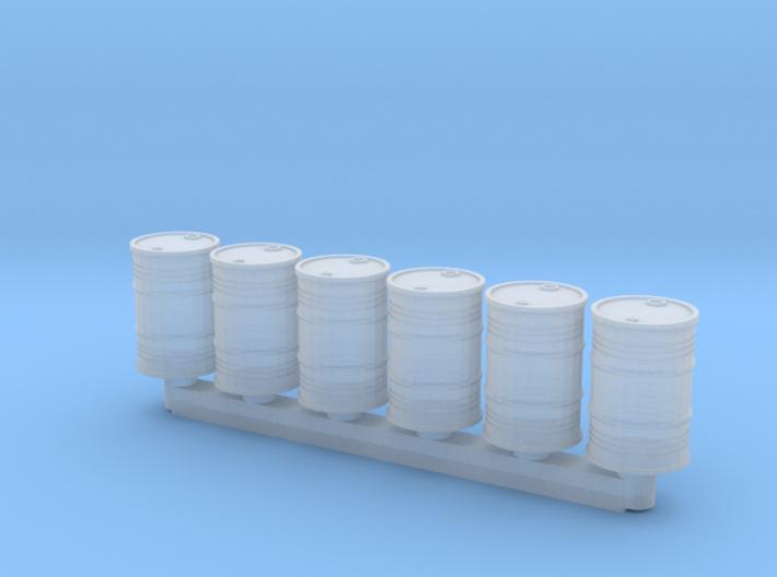 6 Ölfässer (N 1:160) 3d printed