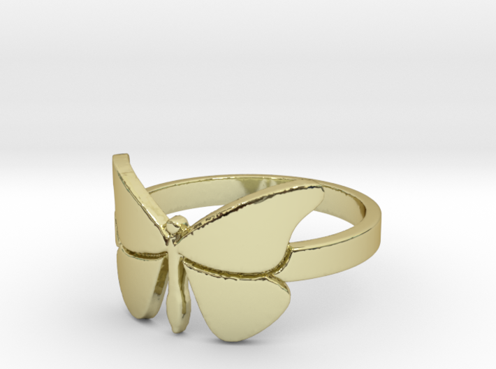 Butterfly (large) Ring Size 8 3d printed