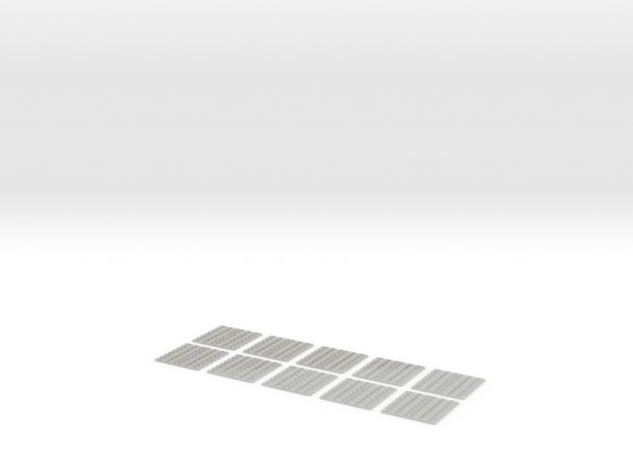 "SCIFI Corridor Floor Grating B 1""x1"" (10 Pieces) 3d printed"
