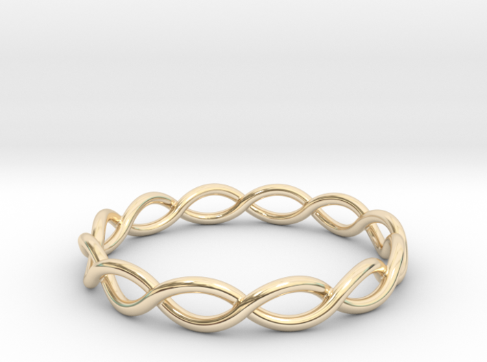 Twisting Ring 3d printed