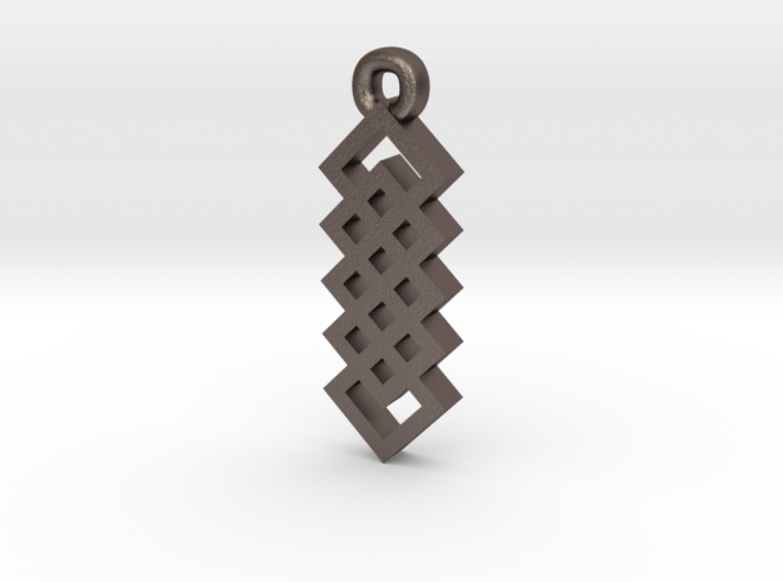Celtic Knot Square Vertical Weave Earrings 3d printed