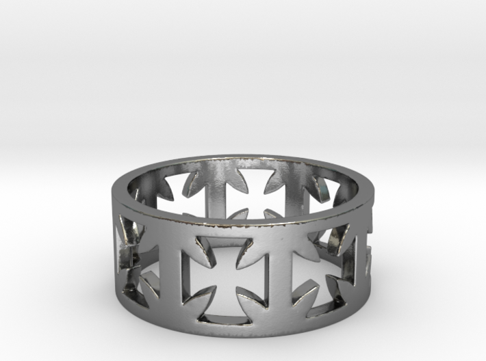Outlaw Biker Cross Ring Size 12 3d printed