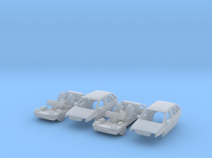 SET 2x Fiat Tipo (N 1:160) 3d printed