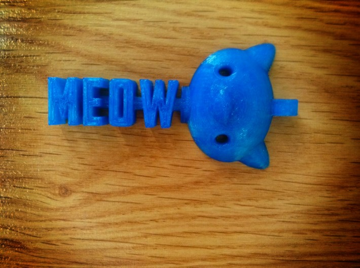 Meow pendant by it's a CYN! 3d printed Hello Kitty