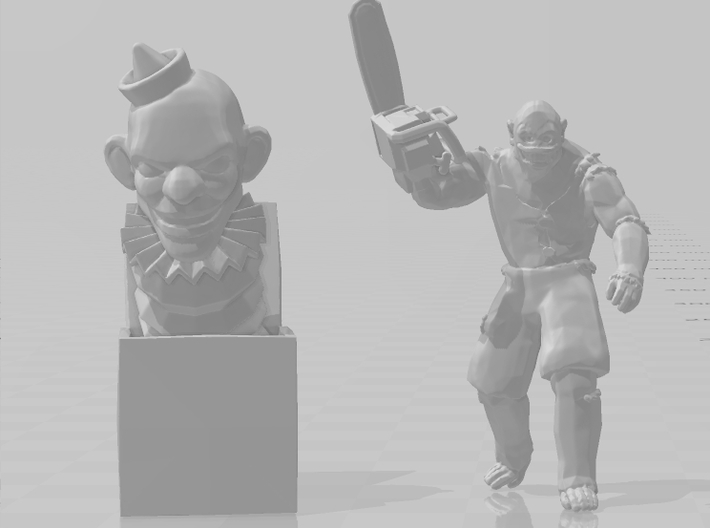 Evil Jack In The Box 40mm miniature model game rpg 3d printed