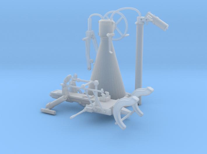 Pedestal mount for German 20mm Flak gun in 1:16 sc 3d printed