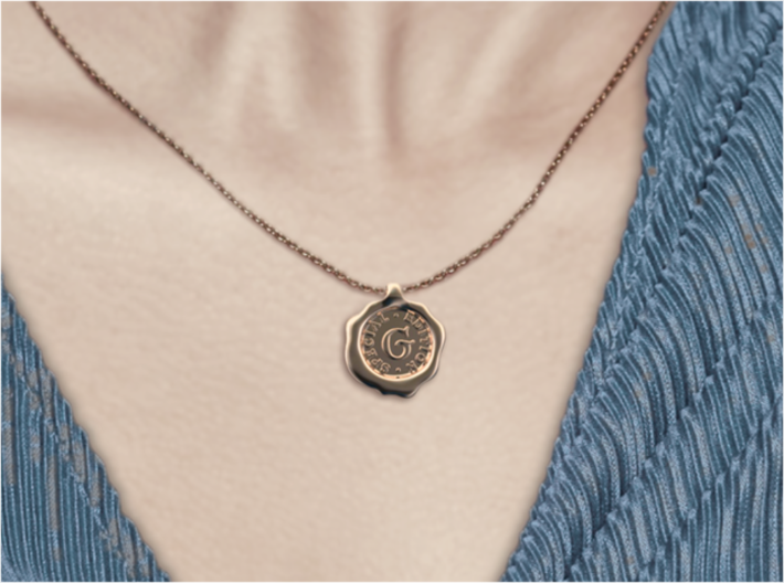 Seal Pendant S 3d printed Seal G of A-Z pendants